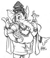 -- Ganesha -- by Pokelai