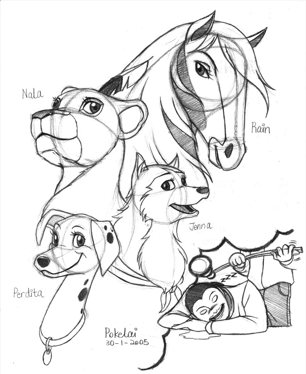 Rain Coloring Pages: Spirit Stallion Of The Cimarron Rain Coloring Pages