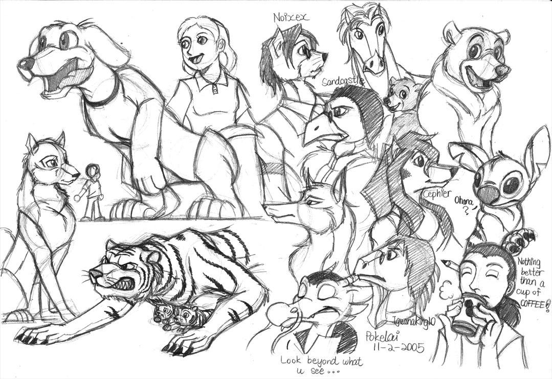 Random Sketches by Pokelai on deviantART