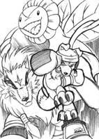 -- Digimon Savers' Doodles -- by Pokelai