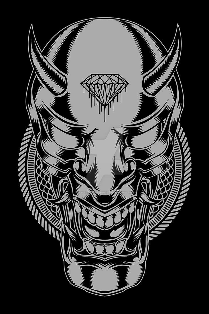 Hannya devil mask by frantcdisorder619