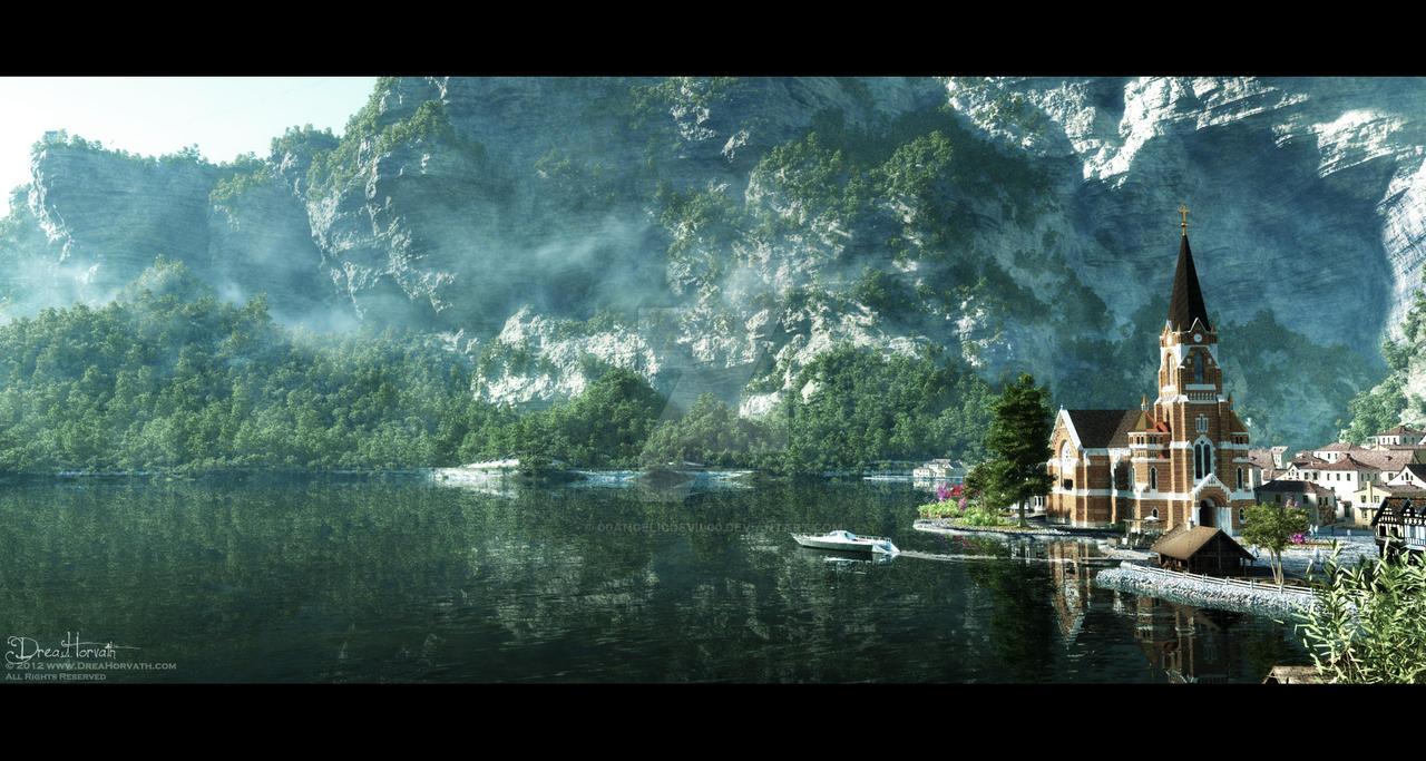 Little Cute Lake Village by 00AngelicDevil00