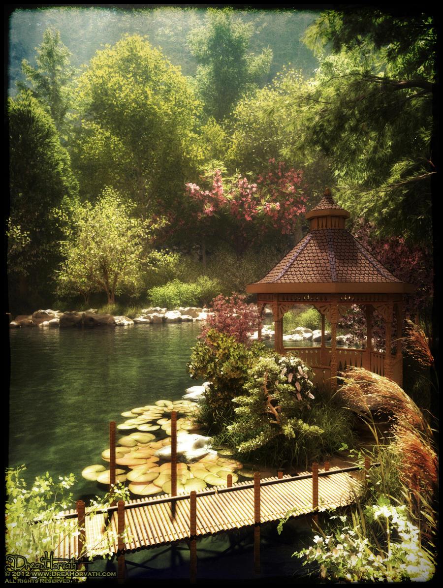 Peaceful Japanese Garden by 00AngelicDevil00 on DeviantArt