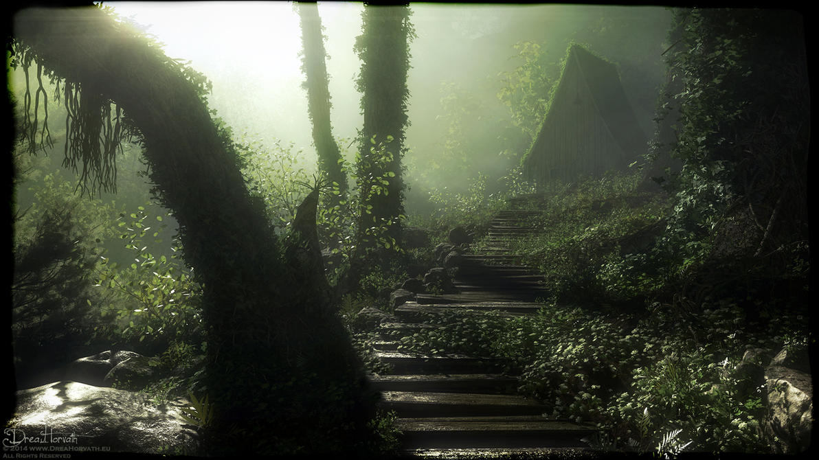 Wooden Forest Path by 00AngelicDevil00