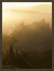 Foggy Rural Sunrise by 00AngelicDevil00