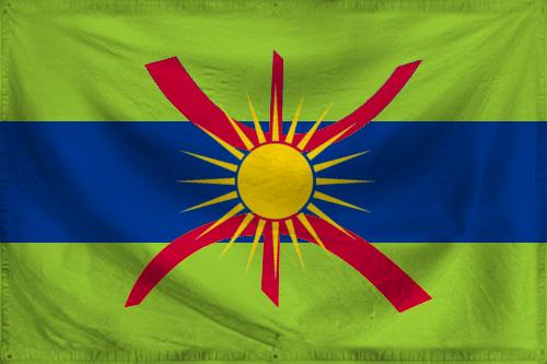 Imazighenia-Tuaregia flag (textured) by ZemplinTemplar