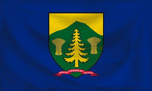 Alternate state flag of Vermont (textured) by ZemplinTemplar