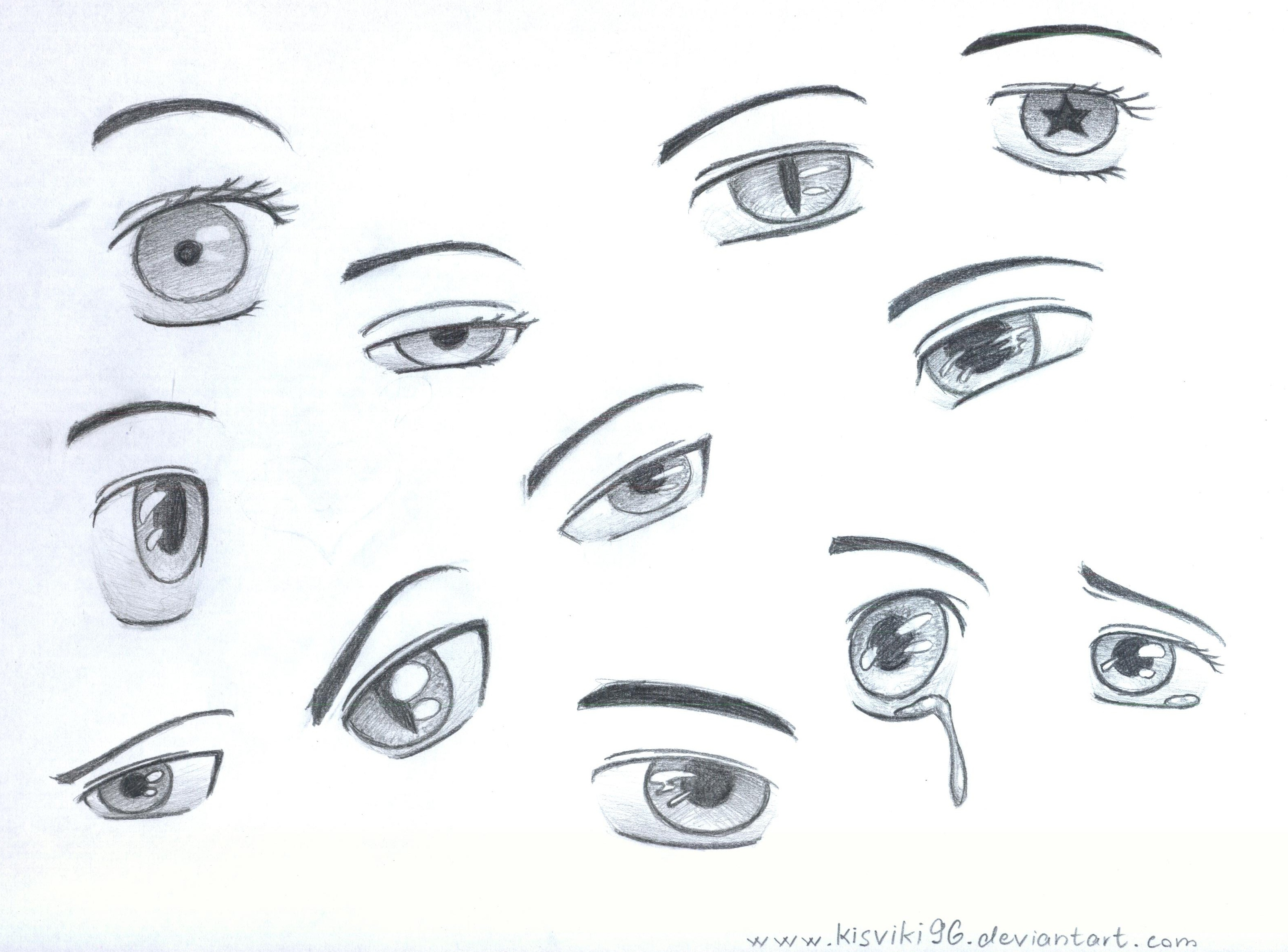 Anime Eyes By Kisviki96