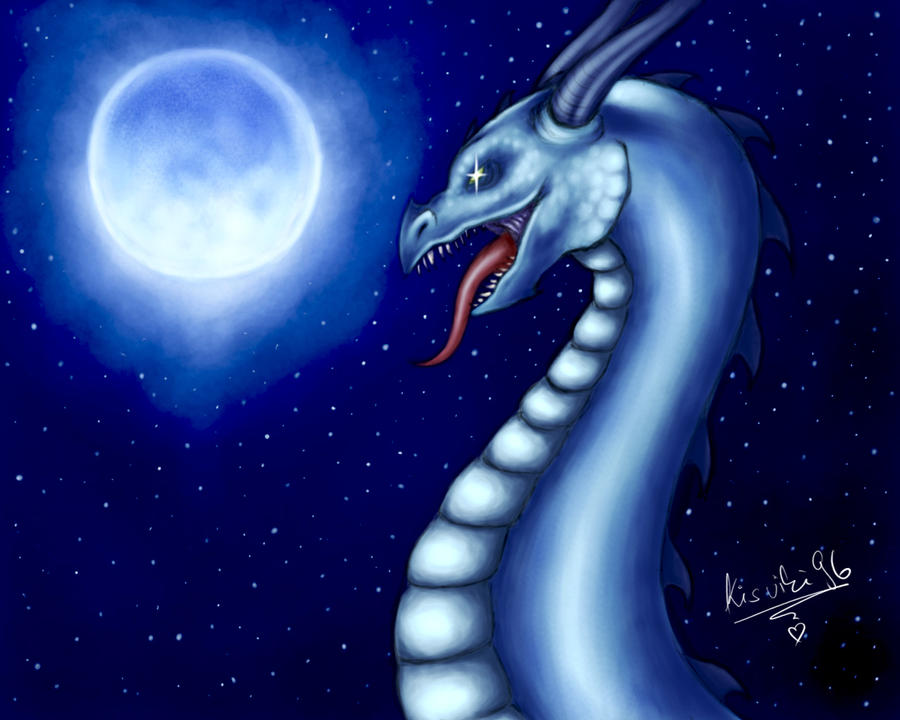 cool blue dragon wallpaper images