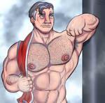 Sweaty DILF (cropped)