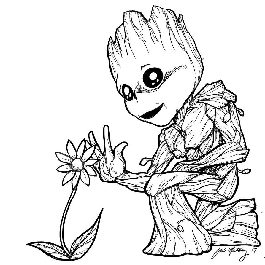 Baby Groot Makes A Friend By Zombieinmybed On Deviantart