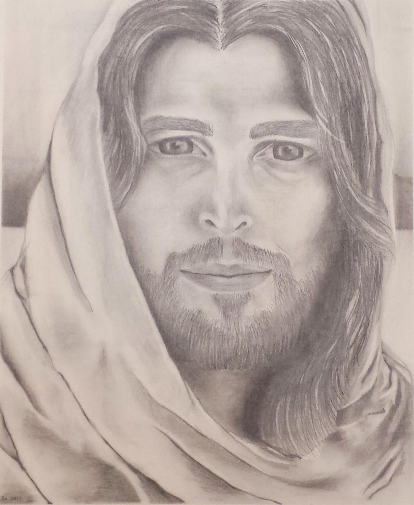 Adult Jesus portrait (Diogo Morgado) by DC-Art-Therapist