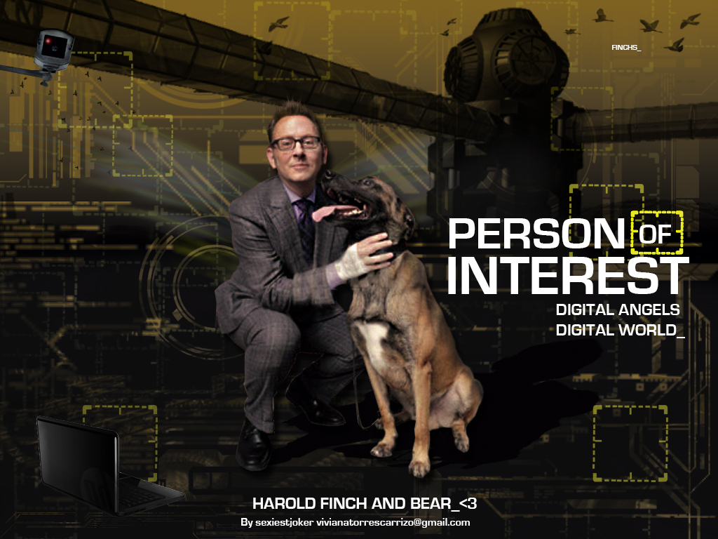 Person Of Interest POI / Harold and Bear by SexiestJoker