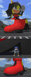 MMD Giantess Honey The Chase is on by sonicmechaomega999