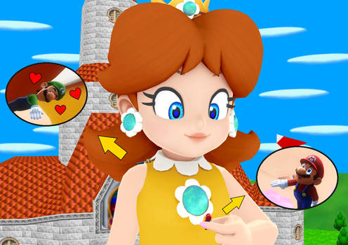 MMD Giantess Princess Daisy