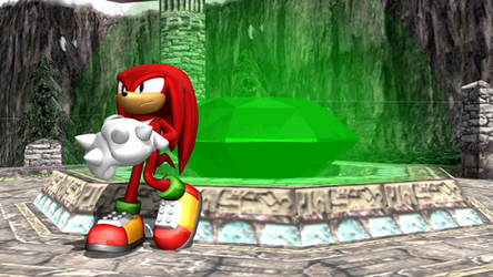 (MMD) Knuckles Guarding the Master Emerald