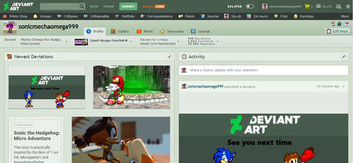 Classic Deviantart Homepage