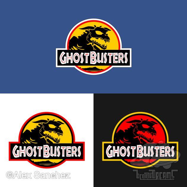 Jurassic Park X Ghostbusters by btnkdrms