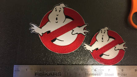 Ghostbuster Uniform Patch full and 3/4 scale