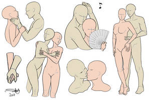 Couple poses reference sheet by Shesvii