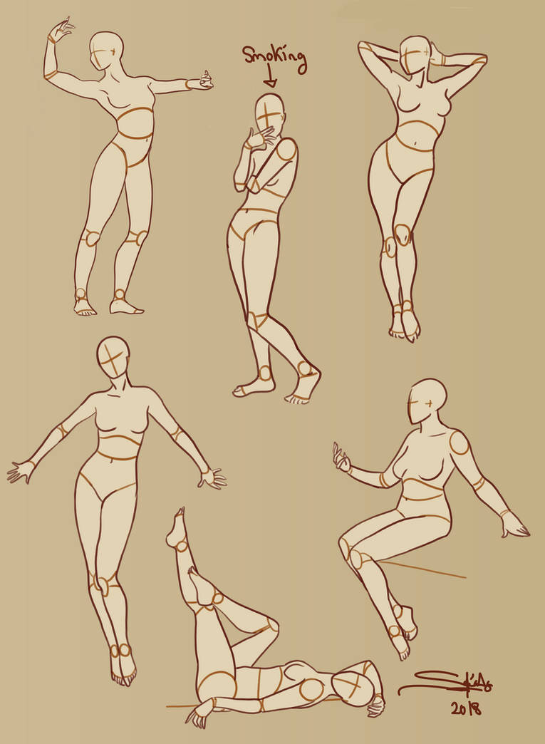 Female poses sheet 2 by Shesvii
