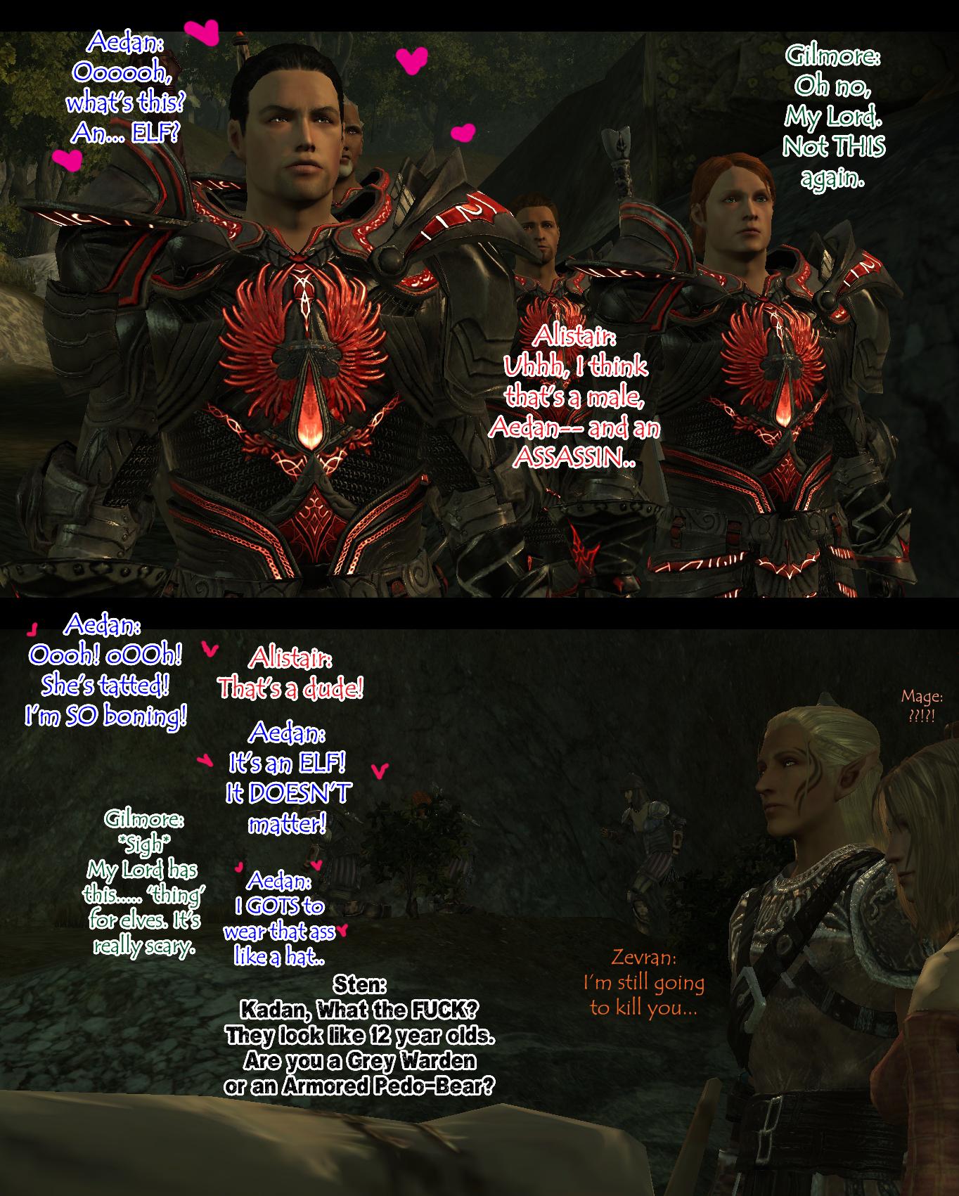 When Aedan met Zevran by Frigidchick