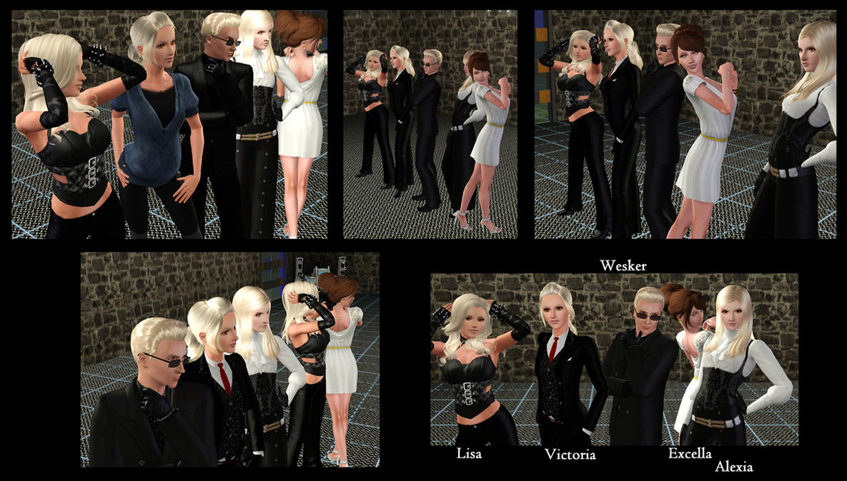 Wesker and Daughters by Frigidchick