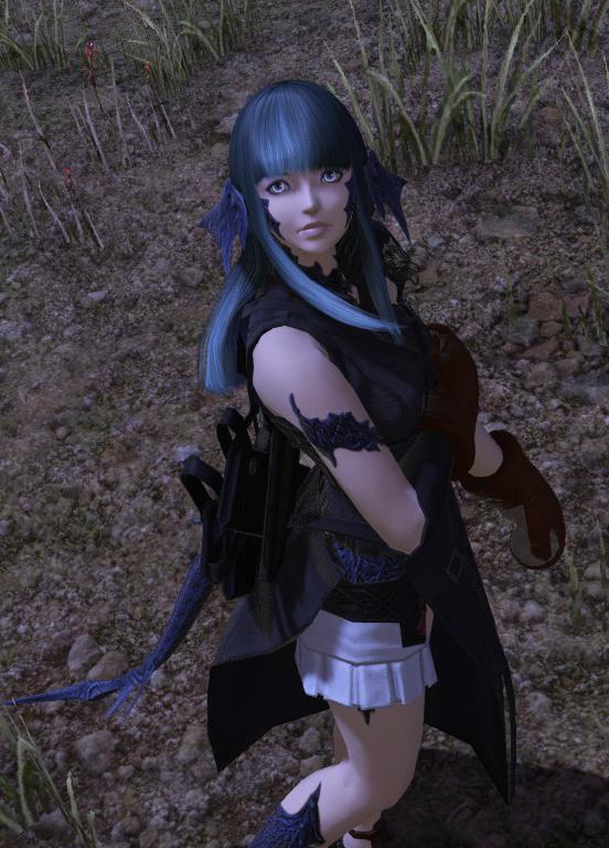 FFXIV Dragonlady Une transformed into a Au Ra by Frigidchick