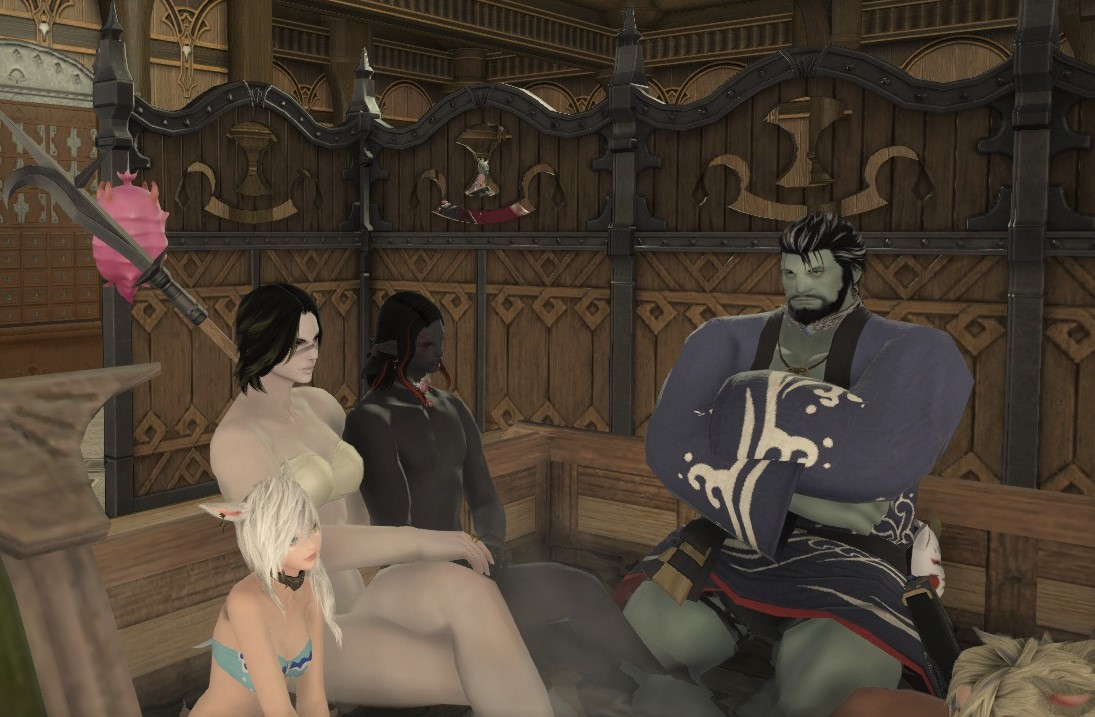 FFXIV Breaking and Entering Hot Tub Party by Frigidchick on DeviantArt