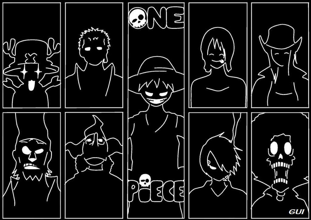 One Piece - Black and White by DelpechMode on DeviantArt