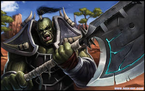 Charging Orc by RogierB