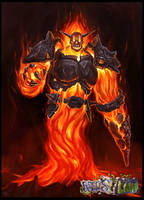 Fire Elemental Creature design for Neo's Land by RogierB