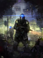 speedpaint thing with a soldier going like WHUT! by RogierB
