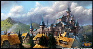 Large Town Illustration for Archmage Rises
