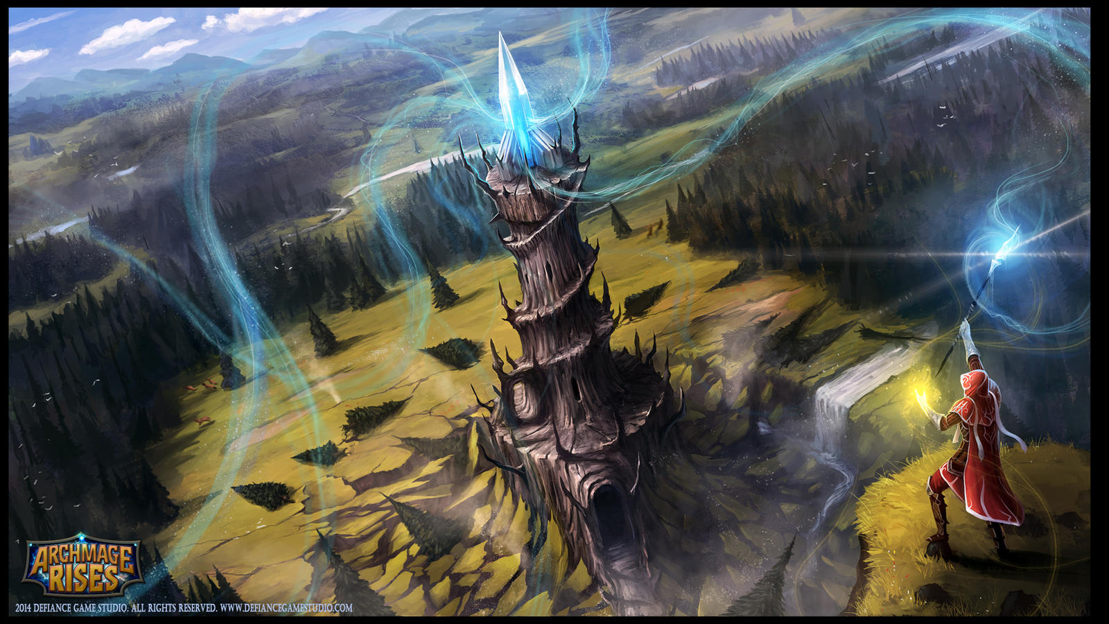 Archmage Rises Title Screen Illustration by RogierB