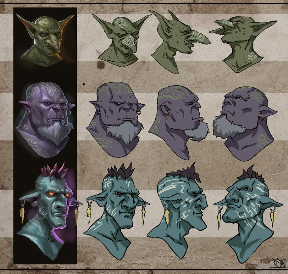 Head concepts by RogierB