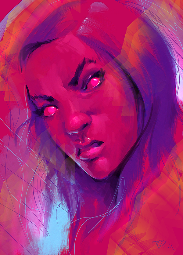 Morning Sketching - #052 - Eye Ruining Colors by RogierB