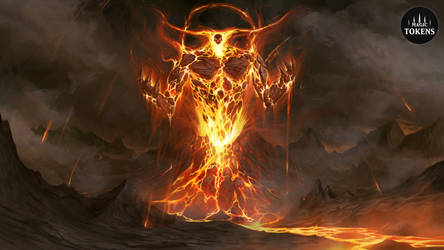 CardGame-Tokens.com - Fire Elemental by RogierB