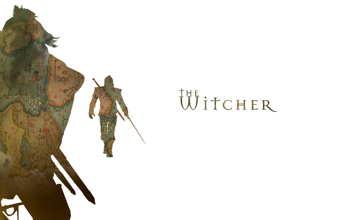 the witcher minimalistic wallpaper by danielskrzypon