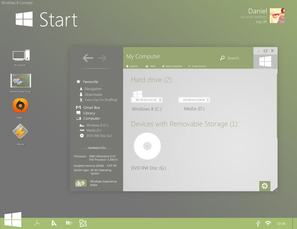 Windows 8 Concept #2 by danielskrzypon