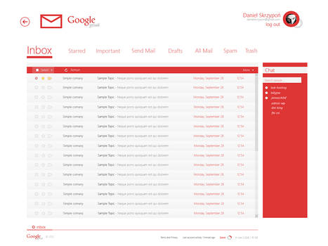 gmail [Modern UI] project concept