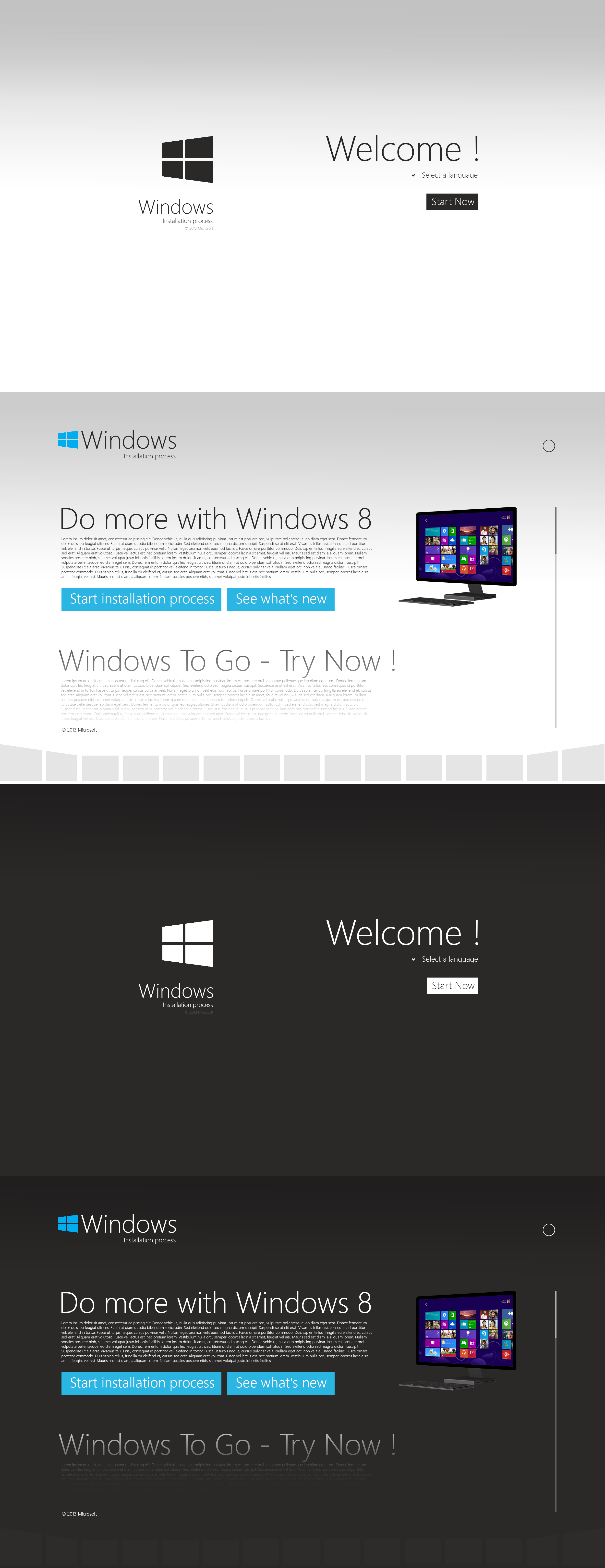 Windows Installation Process - Concept by danielskrzypon