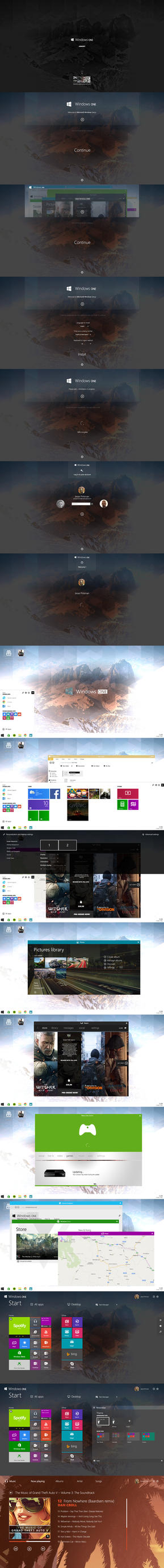 [NEW Concept] Windows ONE by danielskrzypon