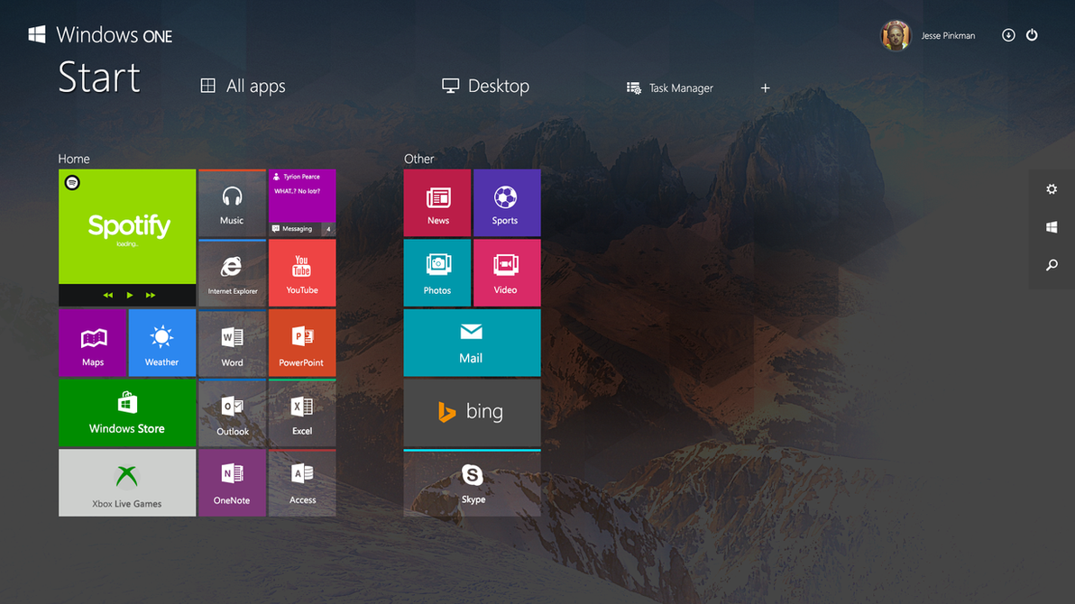 New Concept Windows One Modern Ui By Danielskrzypon On