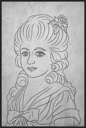 Jeanne-Louise-Francoise de Sainte-Amaranthe by Ravesne