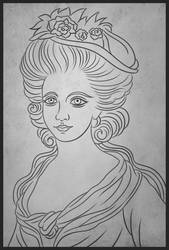 Princesse de Lamballe by Ravesne