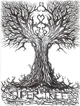 Super tree band t shirt design...v