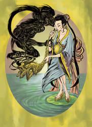 Lady and her Djinn by ThreeEyesWorm