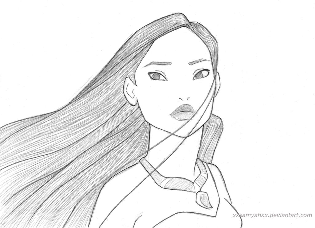 Another Pocahontas Sketch by xXSamyahXx on DeviantArt