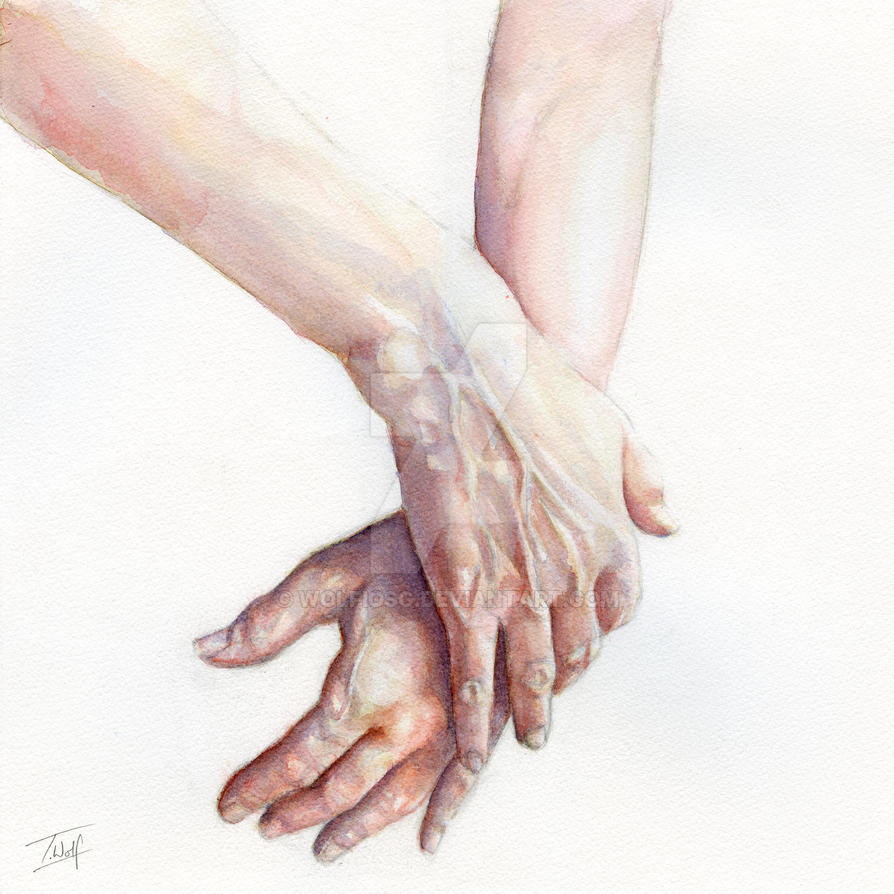 watercolour hands by wolfiosg on deviantart